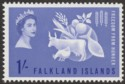 Falkland Islands 1963 QEII Freedom From Hunger 1sh Ultramarine Mint SG211