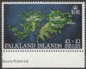 Falkland Islands 1982 QEII Rebuilding Fund £1 + £1 wmk Inverted Mint SG430w
