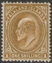 Falkland Islands 1904 KEVII 1sh Brown Mint SG48