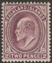 Falkland Islands 1904 KEVII 2d Purple Mint SG45