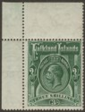 Falkland Islands 1923 KGV 3sh Slate-Green Mint SG80