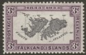 Falkland Islands 1933 KGV Centenary 3d Map Mint SG131
