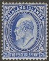 Falkland Islands 1904 KEVII 2½d Ultramarine Mint SG46
