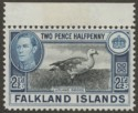 Falkland Islands 1949 KGVI 2½d Black and Blue Mint SG152