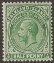 Falkland Islands 1920 KGV ½d Dull Bluish Green Mint SG60d