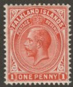 Falkland Islands 1912 KGV 1d Orange-Red Mint SG61