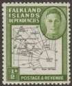 Falkland Islands Dependencies 1946 KGVI ½d w Variety Dot By Oval Mint SG G1d