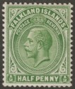 Falkland Islands 1920 KGV ½d Dull Yellowish Green Mint SG60d