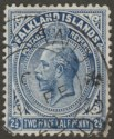 Falkland Islands 1916 KGV 2½d Deep Milky Blue Line Perf Used SG63b