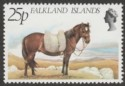 Falkland Islands 1981 Farm Animals 25p watermark Inverted SG394w