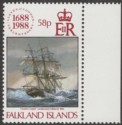 Falkland Islands 1988 QEII Lloyds 58p watermark Inverted Mint SG566w