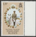 Falkland Islands 1981 Royal Wedding 13p watermark Inverted SG403w