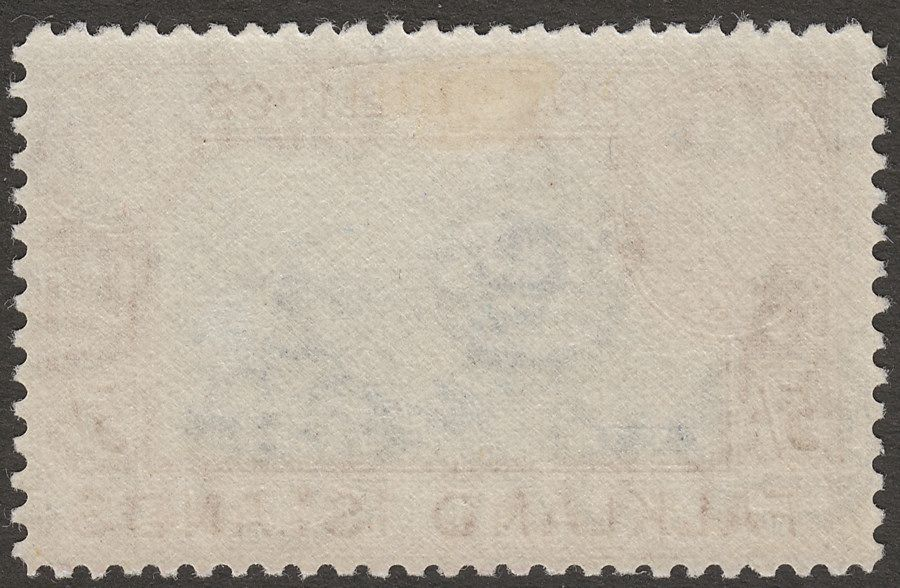 Falkland Islands 1950 KGVI 5sh Steel Blue and Brown-Buff Mint SG161d