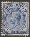 Falkland Islands 1912 KGV 2½d Deep Bright Blue Used SG63