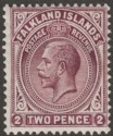 Falkland Islands 1912 KGV 2d Maroon Mint SG62