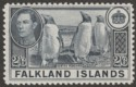 Falkland Islands 1938 KGVI Penguins 2sh6d Slate Mint SG160