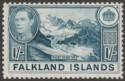 Falkland Islands 1938 KGVI 1sh Dull Greenish Blue Mint SG158a