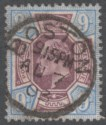 King Edward VII 1902 9d Dull Purple and Ultramarine Used SG250