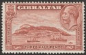 Gibraltar 1931 KGV Rock 1½d Red-Brown perf 13½x14 Mint SG111a