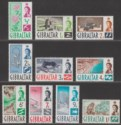 Gibraltar 1960 Queen Elizabeth II Set to 1sh Mint SG160-169 cat £12