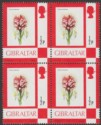 Gibraltar 1982 QEII Toothed Orchid ½p Block of 4 with 1982 Imprint Mint SG374a