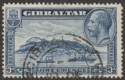 Gibraltar 1933 KGV Rock 3d Blue perf 13½x14 Used SG113a