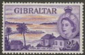 Gibraltar 1953 QEII 2sh Orange and Reddish Violet Mint SG155