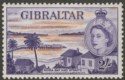 Gibraltar 1959 QEII 2sh Orange and Violet Mint SG155a