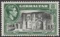 Gibraltar 1942 KGVI 1sh Black and Green Perf 13 Mint SG127b
