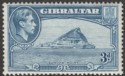 Gibraltar 1938 KGVI 3d Light Blue Perf 13½ Mint SG125