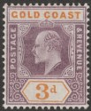 Gold Coast 1905 KEVII 3d Dull Purple and Orange Mint SG53