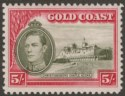 Gold Coast 1938 KGVI Christiansborg 5sh perf 12 Mint SG131