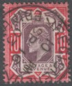 King Edward VII 1902 10d Dull Purple and Carmine Used SG254