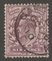 King Edward VII 1906 6d Dull Purple on Chalky Paper Used SG248