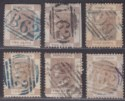 Hong Kong 1863 QV 2c Selection Used with B62 postmarks and shades