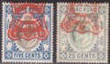 Hong Kong 1907 KEVII Revenue Stamp Duty 5c and 25c Used BF76 BF79