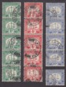Hong Kong 1928-34 KGVI Postage Due 2c, 4c, 10c Strips Used SG D2a, D3a, D5a