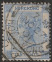 Hong Kong 1901 QV 10c Used with Wuchow IPO Mark and Victoria HK Postmark