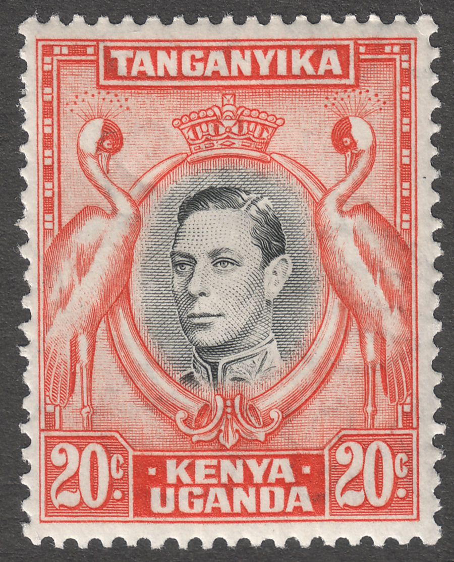 Kenya Uganda Tanganyika 1938 KGVI 20c Black and Orange p13¼ Mint SG139