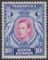 Kenya Uganda Tanganyika 1938 KGVI 10sh Purple and Blue p13¼ Mint SG149
