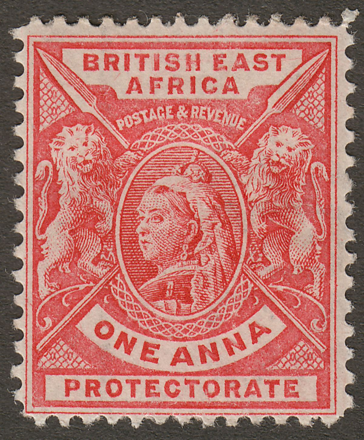 British East Africa 1896 QV 1a Bright Rose-Red Mint SG66a