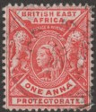 British East Africa 1896 QV 1a Bright Rose-Red wmk Reversed Used SG66x