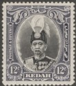 Malaya Kedah 1937 Sultan 12c Black and Violet Mint SG61
