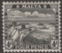 Malta 1915 KGV Valletta Harbour 4d Black Mint SG79 cat £15