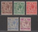 Malta 1921-22 King George V Part Set to 6d Mint cat £60