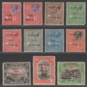 Malta 1928 KGV Postage and Revenue Overprint Part Set to 5sh Mint