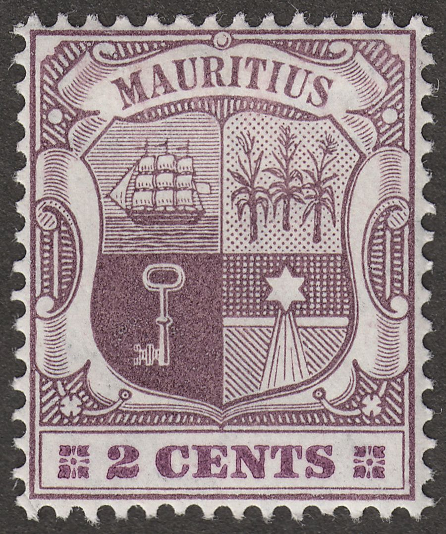 Mauritius 1905 KEVII 2c Dull and Bright Purple wmk Multi CA Mint SG165