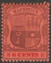 Mauritius 1904 KEVII 6c Purple and Carmine on Red wmk Multi CA Mint SG168