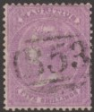 Mauritius 1865 Queen Victoria 5sh Bright Mauve Used SG72 cat £55