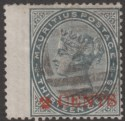 Mauritius 1887 QV 2c on 13c Slate Surcharge Used SG117 cat £120